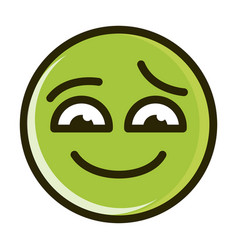 Sorry funny smiley emoticon face expression line vector