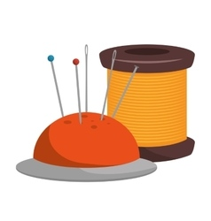 Spool thread and pincushion vector