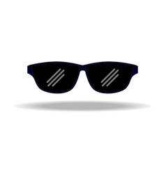 sunglasses simple icon vector image