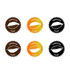 tobacco leaf sticker vector image