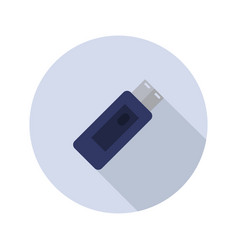 usb pen icon vector image