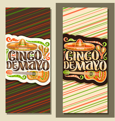 vertical banners for cinco de mayo vector image