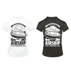vintage airship prints on shirts template vector image