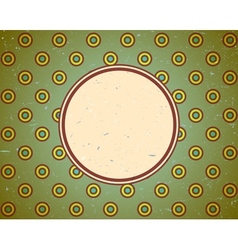 Vintage frame with circles vector