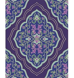 Violet ornamental carpet vector