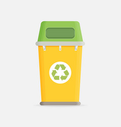Waste sorting garbage bin vector