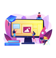 Web development courses concept vector