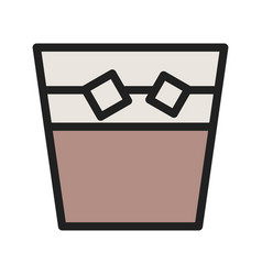 White russian drink vector