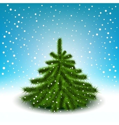 little fluffy christmas tree vector image