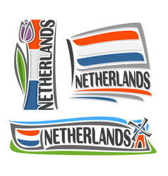 logo for netherlands vector image vector image