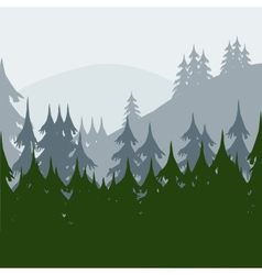 Morning in wood vector image vector image