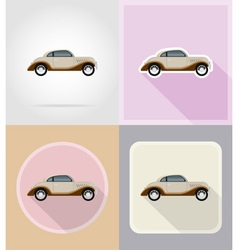 old retro transport flat icons 08 vector image vector image