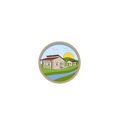 Prefabricated houses logo vector