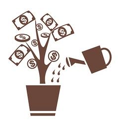tree money invest symbol vector image vector image