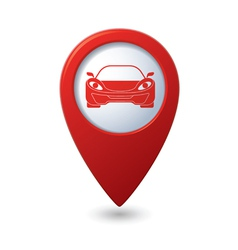 car RED pointer vector image