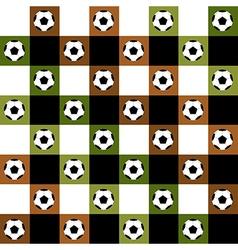 Football ball green brown chess board vector