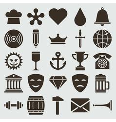 Vintage retro icons set vector image vector image
