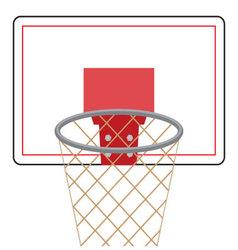 Basketball board and ring vector image vector image