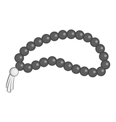 Beads icon gray monochrome style vector image vector image