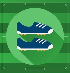 Classic Soccer Boots round icon vector image