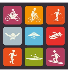 Extreme sports design vector image