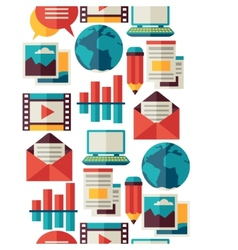 Media and communication seamless pattern with blog vector image vector image