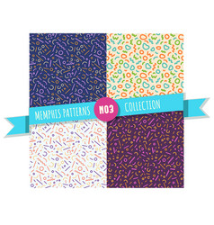 memphis pattern seamless collection vector image