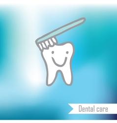 Teeth - freehand drawing vector image