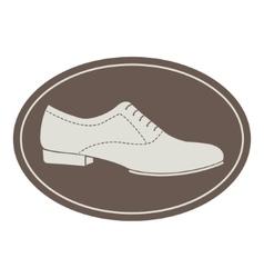 Vintage men shoe label vector image vector image