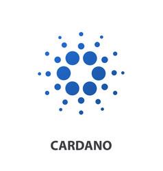 cardano crypto currency coin icon vector image vector image