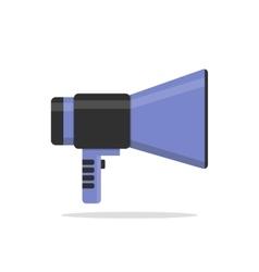 Flat icon of megaphone vector image