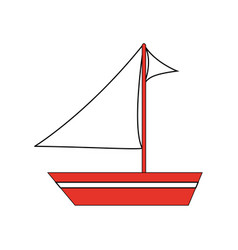 sailboat ship icon image vector image vector image