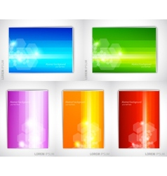 Set of bright backgrounds vector image