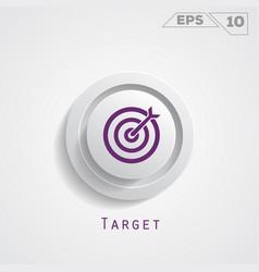 Target circle icon vector
