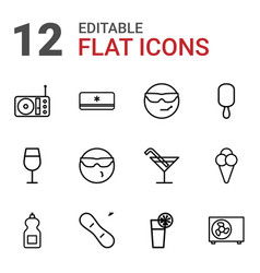 12 cool icons vector