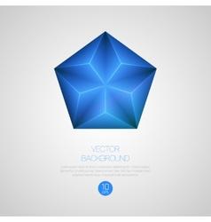 3d triangular background vector
