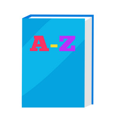 abc book in blue hard cover vector image