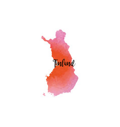 abstract finland map vector image