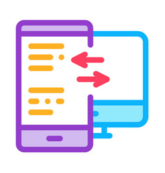 Adaptive site for computer screen and phone icon vector