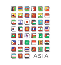 asia country flag icon vector image