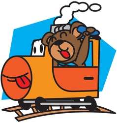 Bear and train vector