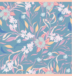 Beautiful floral pattern with leaves for design vector
