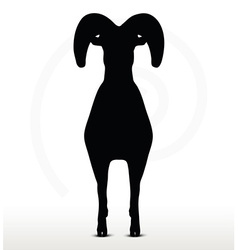 big horn sheep silhouette in standing pose vector image