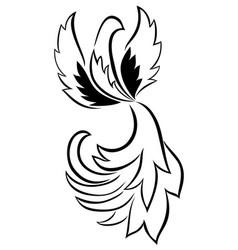 Bird - black and white print vector