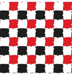 Black and Red Check Seamless Pattern vector image