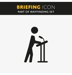 Briefing icon vector