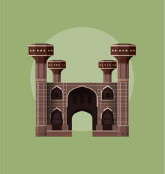 chuburji - historical landmark pakistan vector image