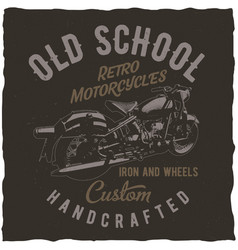 classic motorcycles label design vector image