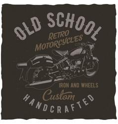 Classic motorcycles label design vector