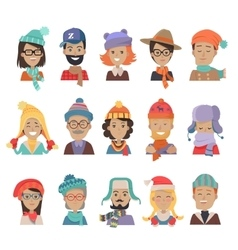Collection of Hats for All Seasons Boys and Girls vector image